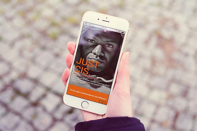 online magazine zichtbaar op een smartphone