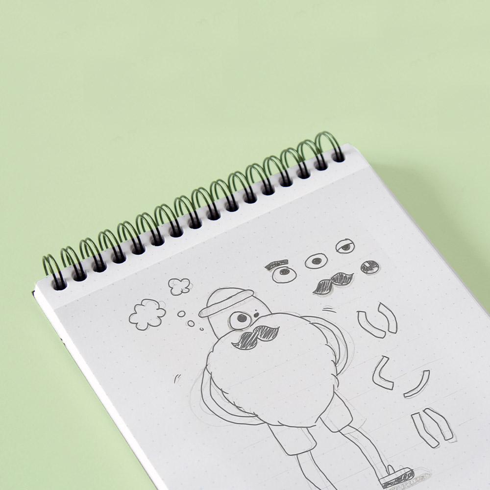 animatie tekening door de animator